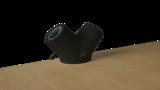 Unieke contactdoos in organische vorm zwart_3