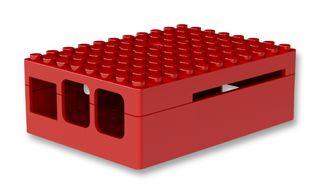 PI- Blox behuizing LEGO voor PI B+, PI 2 en PI 3 rood